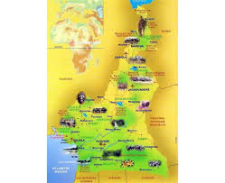 Gabon Africa Map by Maps Of Cameroon Detailed Map Of Cameroon In English Tourist