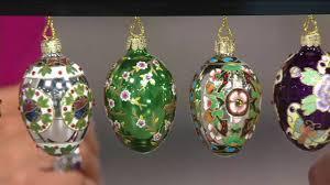 joan rivers 2016 set 12 mini russian inspired egg ornaments on qvc