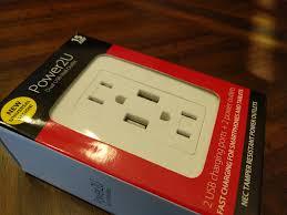 power2u usb wall outlet u2014 the modern geek u0027s wall plug u2013 gaming trend