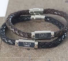mens jewelry leather bracelet images Personalised chunky leather identity bracelet by suzy q designs jpg