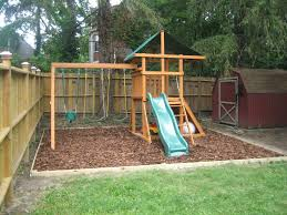backyard playground kids wooden swing sets backyards pictures for