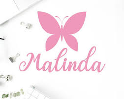 butterfly name decal etsy