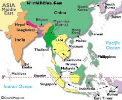 asia east map middle east time zone map worldatlas