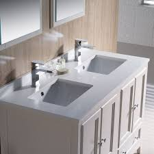 48 Double Sink Bathroom Vanity by Fresca Oxford 48 Inch Antique White Traditional Double Sink