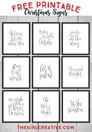 free printable christmas signs holiday words word art and free