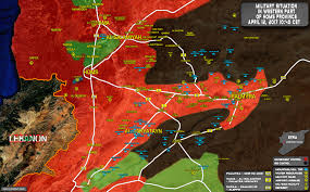 Map Of Syria And Russia Situation In Area Of Palmyra On April 12 2017 Syria Map Update