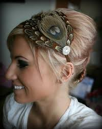 feather headbands 51 best hair bands peacock images on hair bands