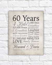 60th anniversary gifts 60th anniversary gift 60 years married or any year gift for