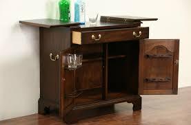 Flip Top Bar Cabinet Sold Henkel Harris Signed Vintage Mahogany Flip Top Bar Cabinet