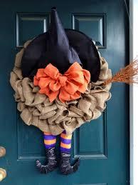 spooky handmade halloween wreath designs for your front door