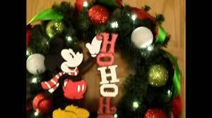 ho ho ho classic mickey mouse christmas wreath style 2 youtube