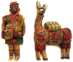 sculpt peruvian peasant and llama ornaments education daily