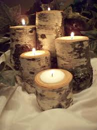 can you use tea light candles without holders birch tea light candle holder set of five rustic natural birch logs