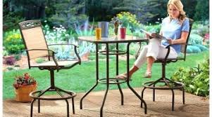 patio bar height dining set outdoor patio furniture bar ideas mchair mixed square