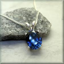 jewelry blue sapphire necklace images Blue sapphire necklace oval blue sapphire september birthstone jpg