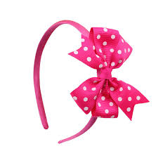 ribbon sale 1 hot sale dot ribbon bow baby girl hair lovey band kids bow