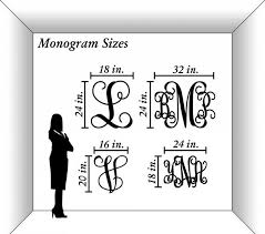 three letter monogram custom three letter monogram millen script 91101s