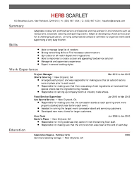 Fast Food Sample Resume by Food Service Resume Fast Food Server Resume Sample Unforgettable
