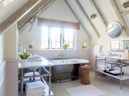 Bathroom Ceilings Shiplap Vaulted Bathroom Ceiling With Rustic Wood Beams