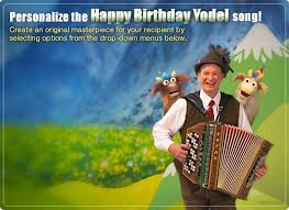 e card birthday yodel ecard personalized lyrics milestone