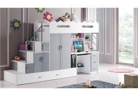 lit superposé avec bureau lit superpose avec bureau pour fille visuel 3