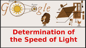 Speedof Light Determination Of The Speed Of Light Google Doodle Qpt Youtube