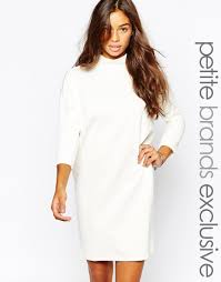 vero moda exclusive to asos petite roll neck jumper dress made of