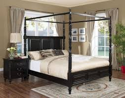 Bedroom Set With Canopy Bed Martinique Rubbed Black Canopy Bedroom Set With Drapes From New