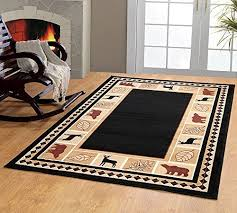 Amazon Com Area Rugs Lodge Throw Rugs Rustic Rugs Cabin Rugs And Lodge Area Rugs