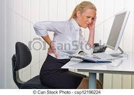 femme de bureau douleur dos bureau femmes femme douleur work séance