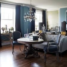 suzie york house elegant living room with blue walls paint