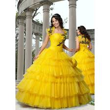 new arrival luxury yellow vintage wedding dress with jackets plus