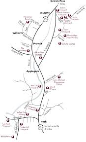 map of oregon wineries map the appegate wine trail