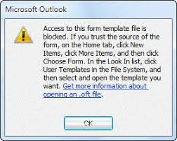 how to open outlook templates and files using toolbar buttons