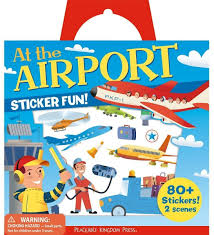 amazon com peaceable kingdom sticker fun at the airport reusable