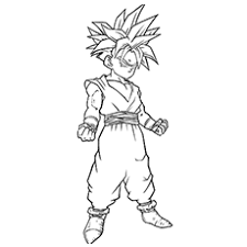 20 free printable dragon ball coloring pages