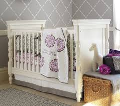 Lavender And Grey Crib Bedding Lavender And Grey Crib Bedding White Bed