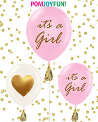 Pink And Gold Baby Shower Decorations by It U0027s A It U0027s A Boy Baby Shower Balloons Set Of 3