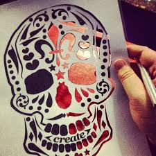 how to a skeleton stencil search pinteres