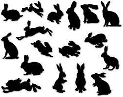 bunny clipart rabbit silhouette pencil and in color bunny