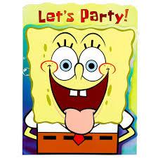 Funny Birthday Invitation Cards Templates Spongebob Birthday Invitations