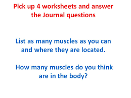 8 th grade health unit muscles and exercise pick up 4 worksheets