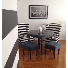 Dining Room Wing Chairs by Black And White Stripe Wing Back Chairs The Glamorous Project