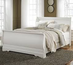 Bedroom Decorating Ideas With Sleigh Bed Ashley Signature Design Anarasia Queen Louis Philippe Sleigh Bed