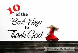 10 of the best ways to thank god