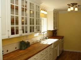 Designs For Small Galley Kitchens Kitchen Style Farmhouse Small Galley Kitchen Remodel White Glass