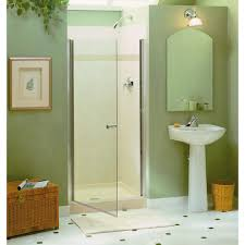 34 Shower Door Sterling Finesse 34 In X 65 1 2 In Semi Frameless Pivot Shower