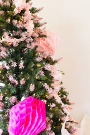 diy pink tipped honeycomb christmas tree lovely indeed