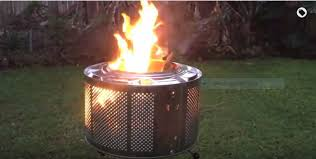 Washing Machine Firepit How To Make A Great Looking Pit Out Of An Washing Machine