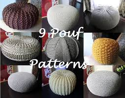 Crochet Ottoman Pattern Crochet Pattern Knitting Pattern 9 Knitted Crochet Pouf Floor